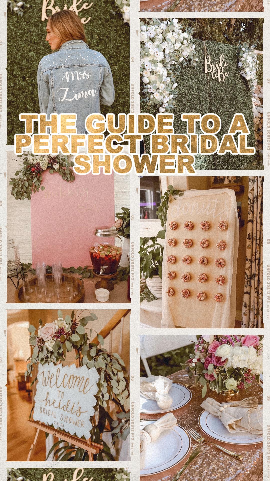 HOW TO THROW AN AMAZING BRIDAL SHOWER | DIY IDEAS, ETSY SHOPS, AND MORE